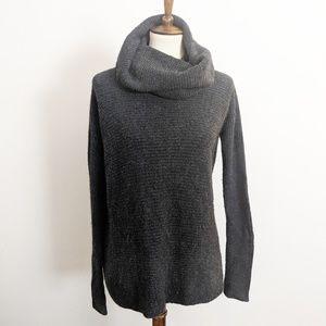 Vince Gray High Neck Cowl-Neck Wool Blend Sweater